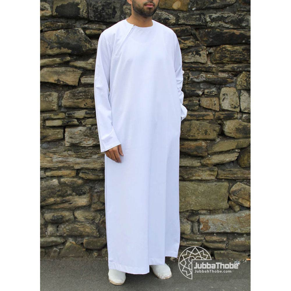 White Roll Down Jubba
