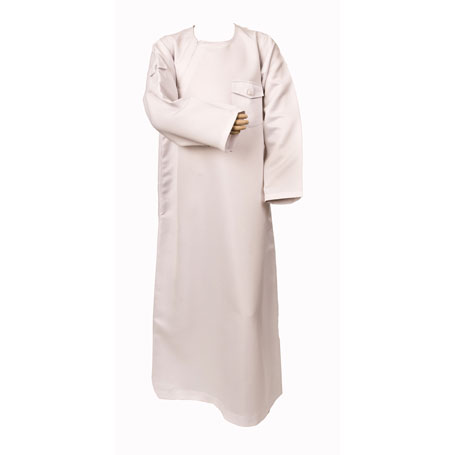 White Side Zipped Stylish Jubba