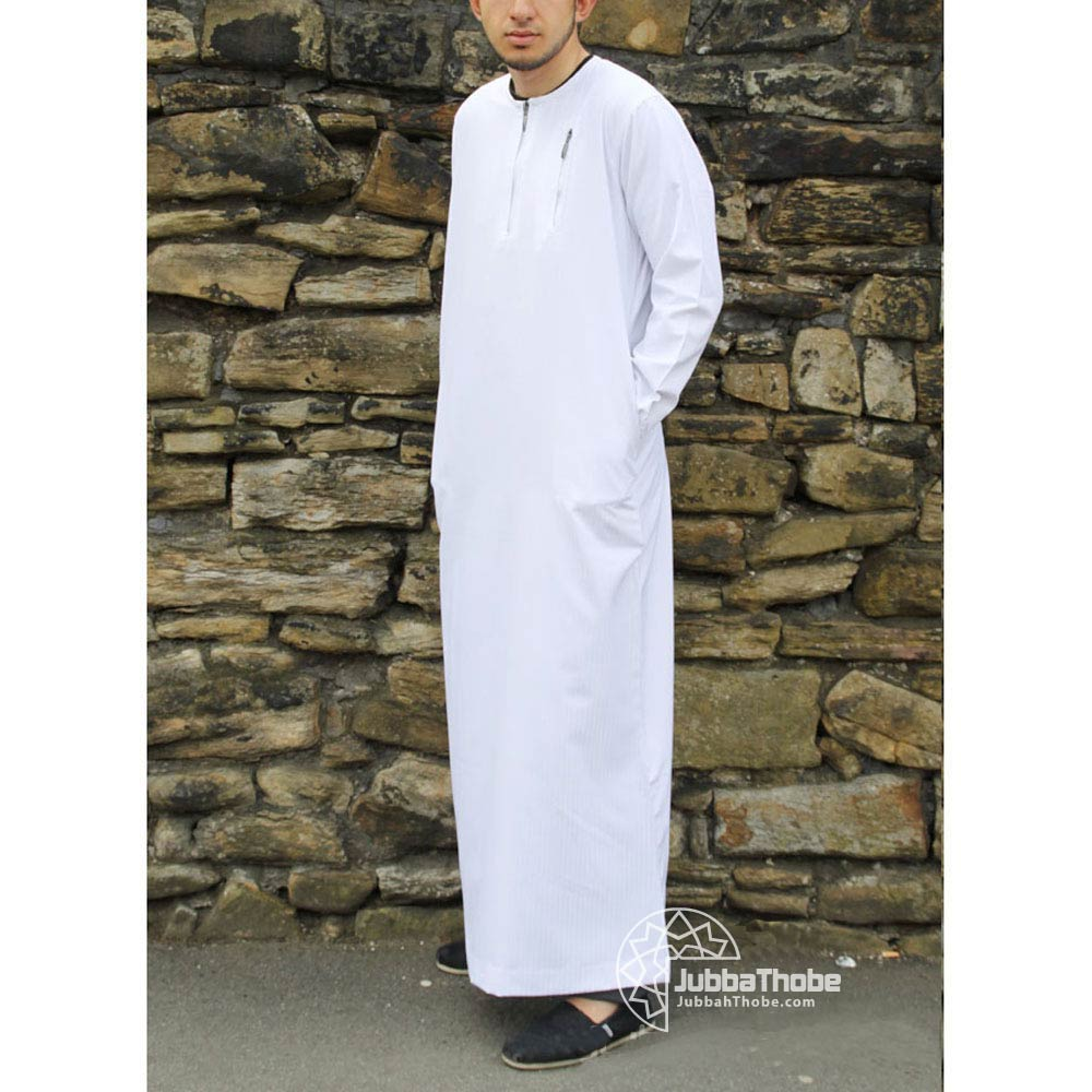 White Urban Zipped Jubba