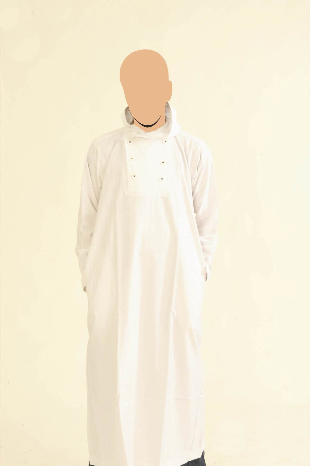 White Recolite Hooded Jubba