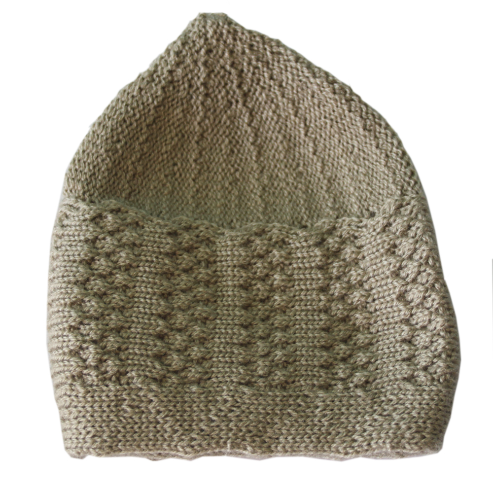 Beige Winter Prayer Cap