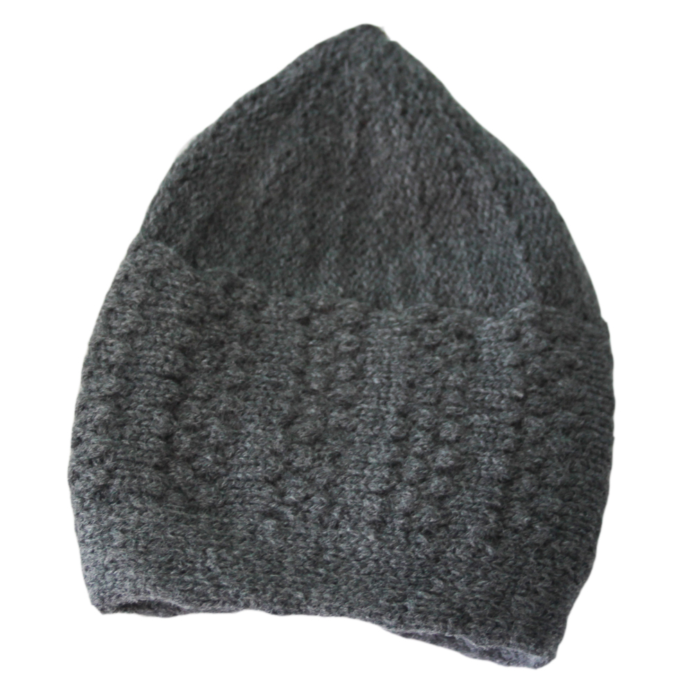 Grey Winter Prayer Cap