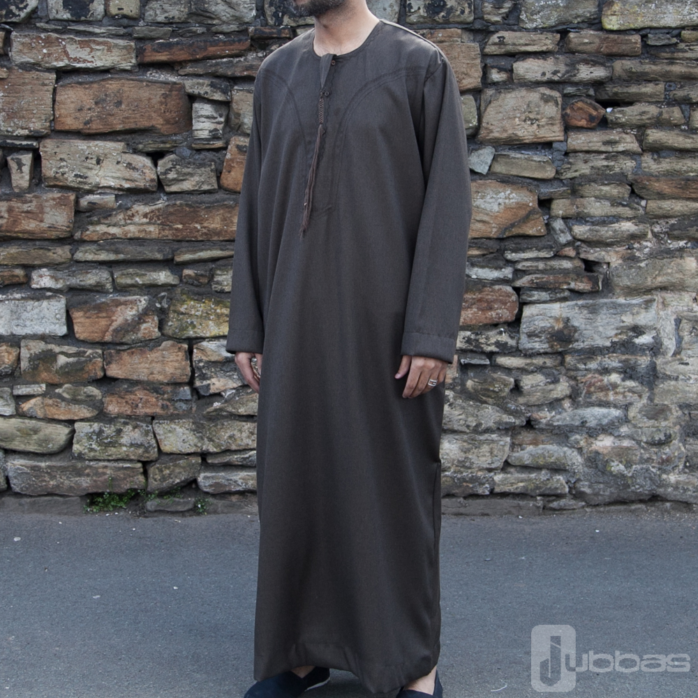 Omani Winter Mens Brown Jubba