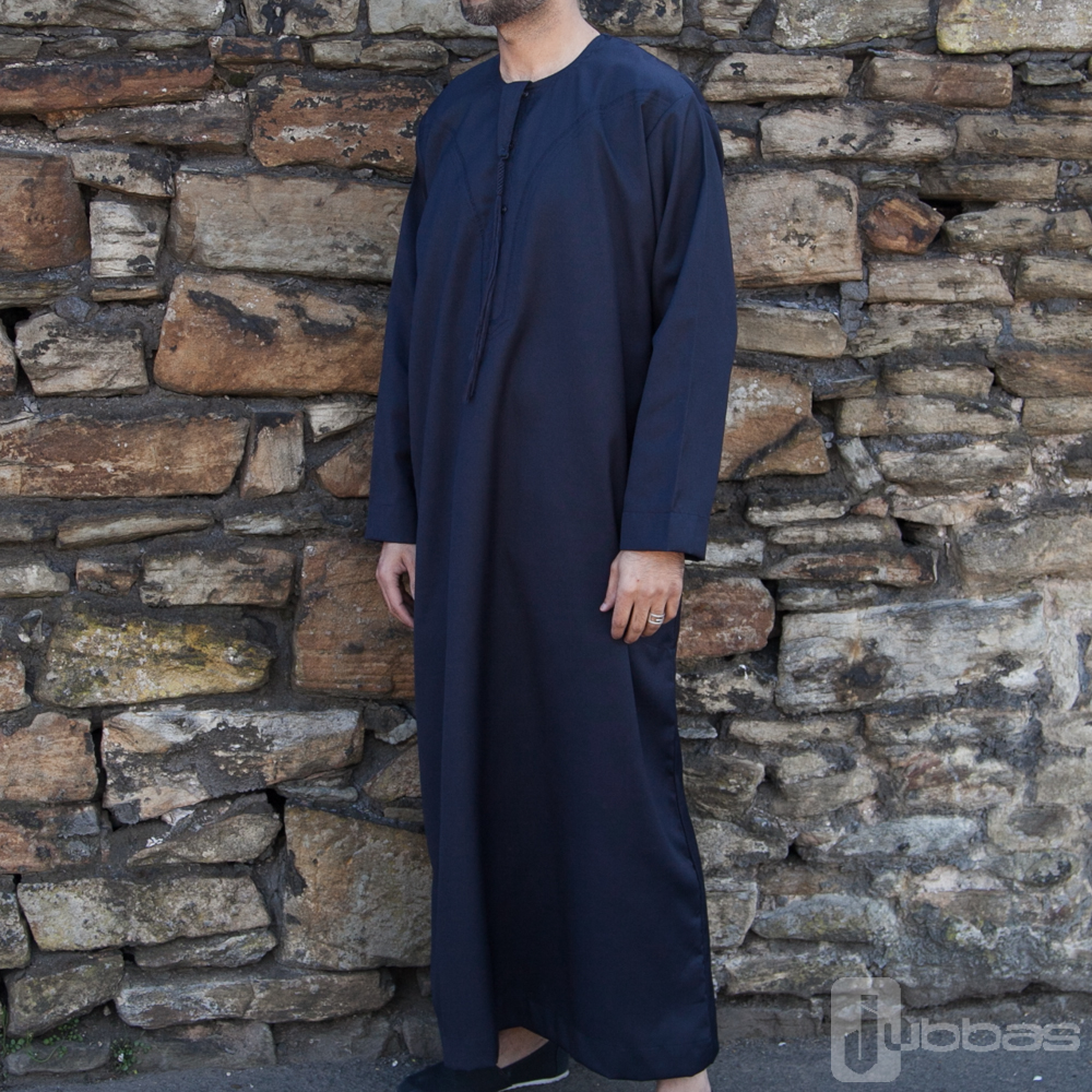 Omani Winter Mens Nevy Blue Jubba